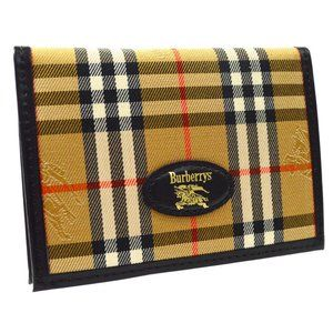 BURBERRY Check Pattern Card Holder Wallet Purse
